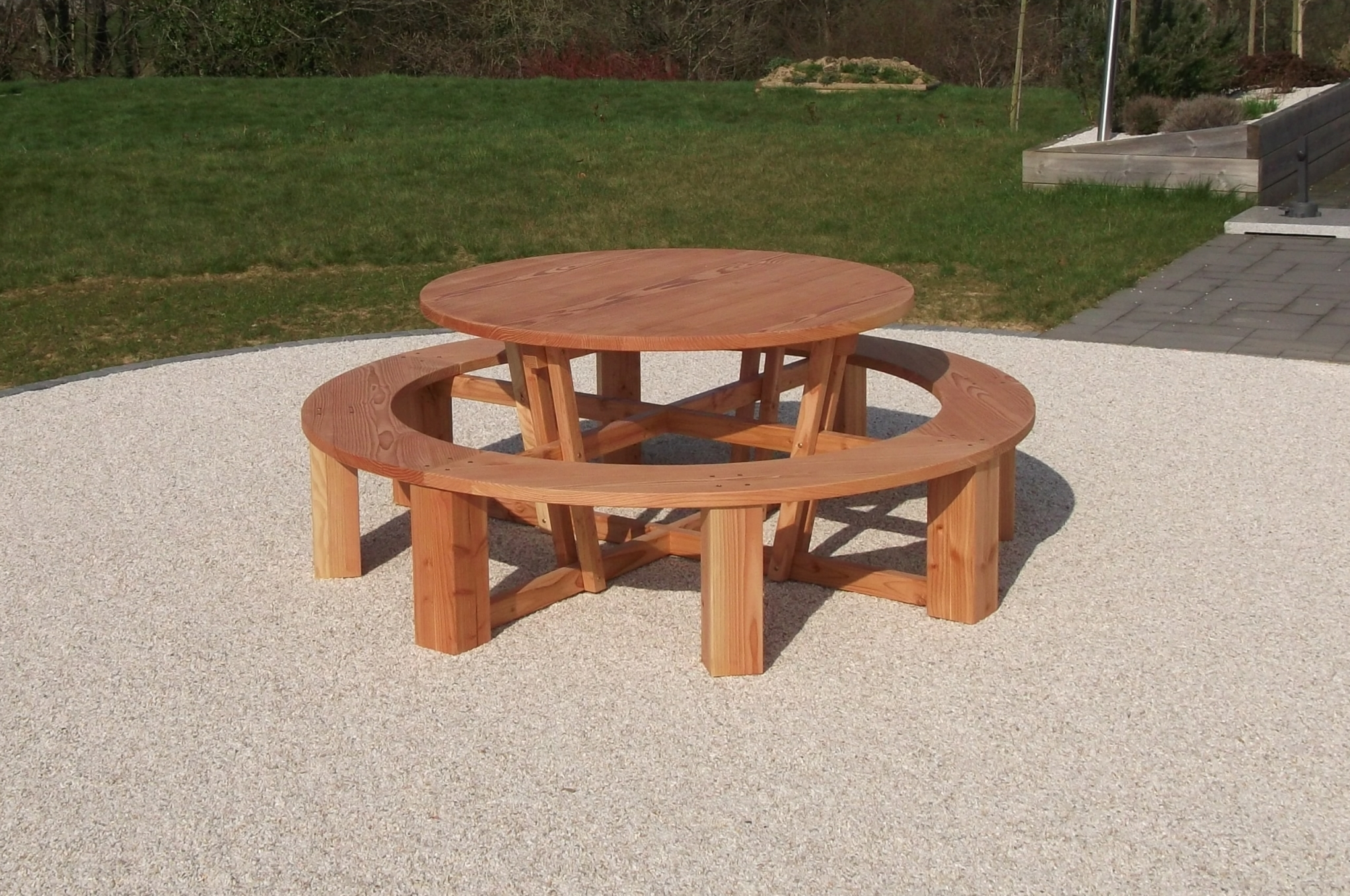 Best Table De Jardin Ronde Avec Banc Ideas - House Design ...